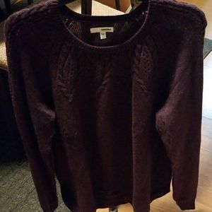 Women's LG Purple Sweater